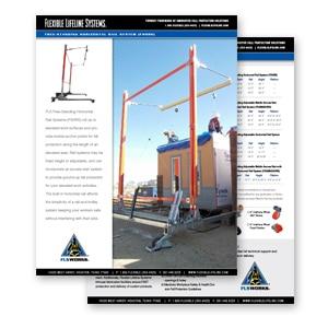 freestanding horizontal rail