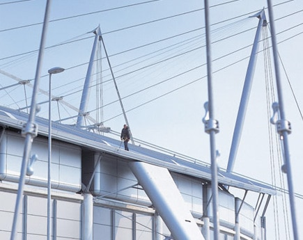 stadium safety system for working at height