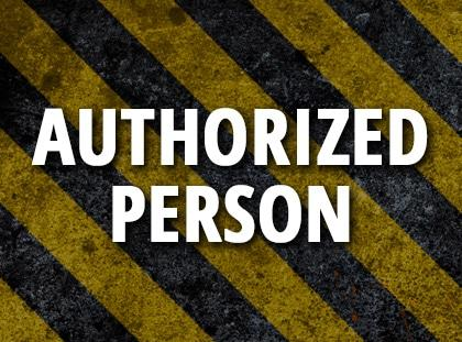 authorized person