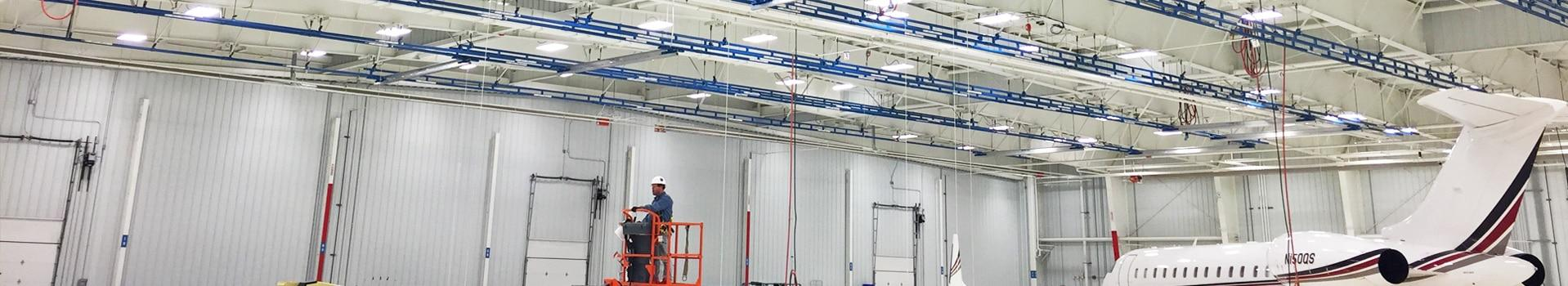 fall protection systems for aircraft hangars