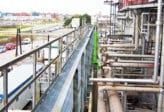 elevated walkway for safe access to pipe racks