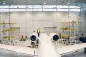aircraft hangar horizontal lifeline system