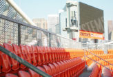 fall protection on stadium sign screens