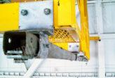 fall arrest track system on overhead crane