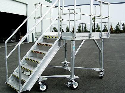 rolling portable work platforms
