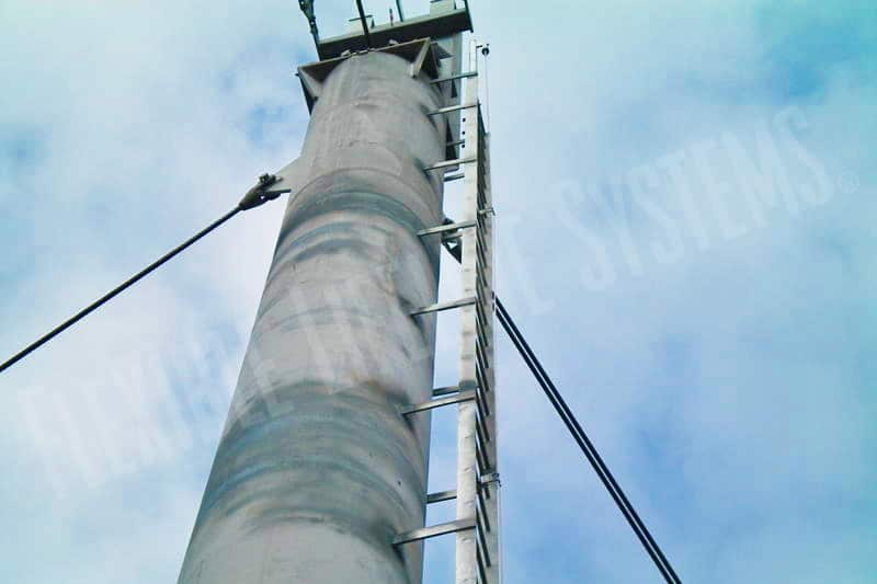 fall arrest system on steel tower