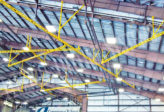 aircraft hangar overhead track fall protection