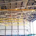 aircraft hangar rigid rail