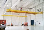 fall protection track system for aircraft maintenance