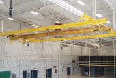trolley beam system in an aircraft hangar