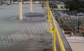 roof fall safety using weighted guard railing