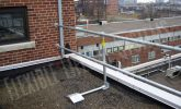 roof rail for fall protection