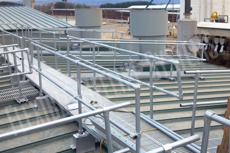 Handrail Amp Walkway Systems For Roofs Fall Arrest Com