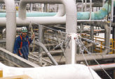 working at height in refineries