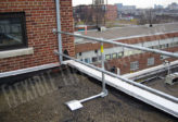 guardrails around roof for fall protection