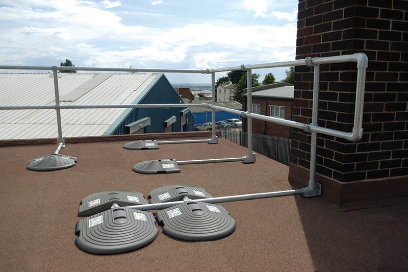 Freestanding Permanent Guardrail Flexible Lifeline Systems