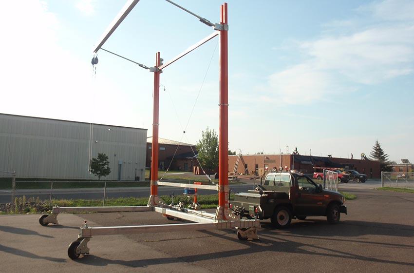 Portable Overhead Rail Amp Trolley Fall Protection