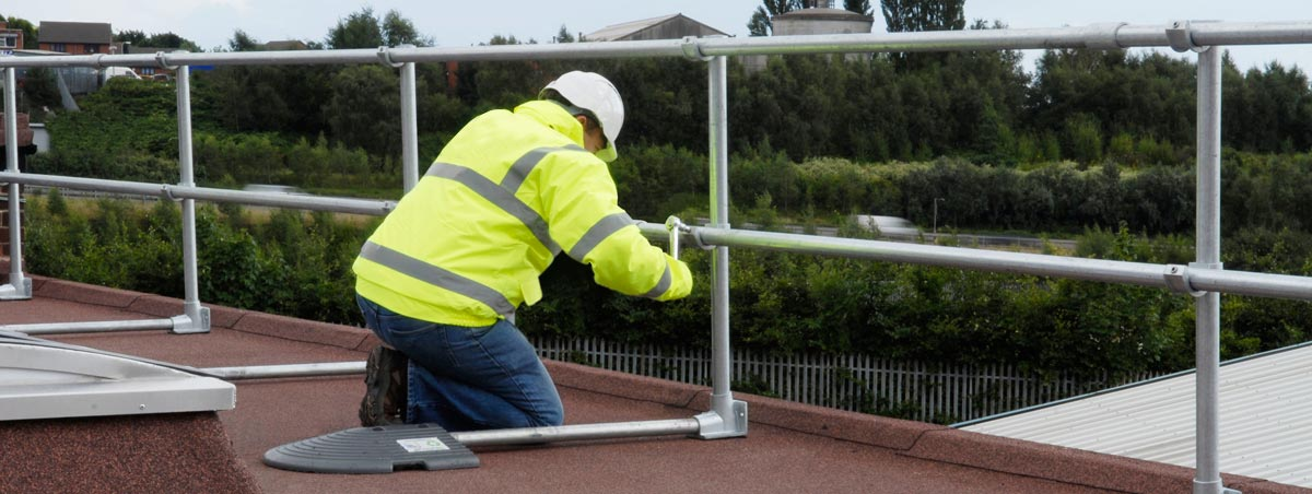 Roof Guardrail Systems Freestanding Guardrails Flexible
