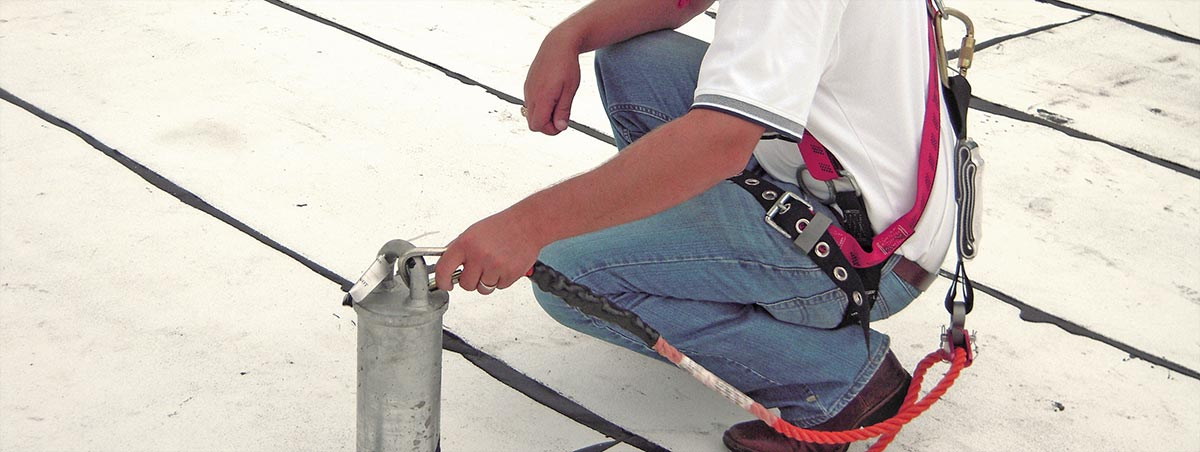 Through Bolt Tieback Anchors Fall Protection Roof