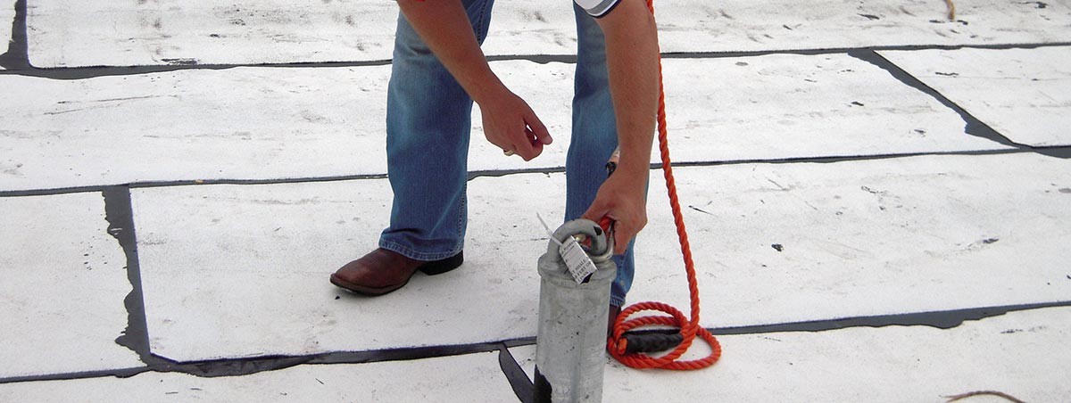welded roof anchor