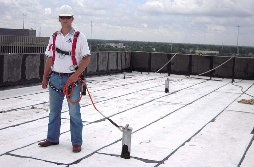 Osha Certified For Roof Through Bolt Tieback Anchors Fall