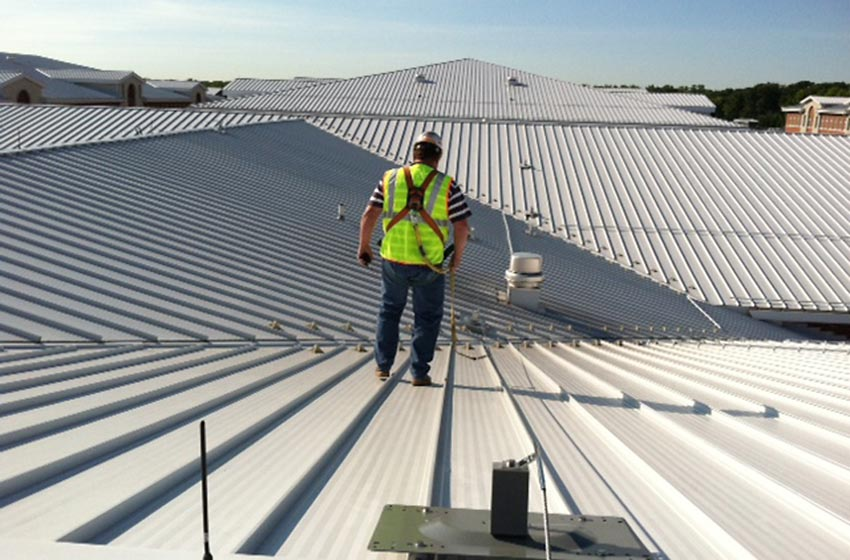 Multi Span Fall Protection on Rooftop