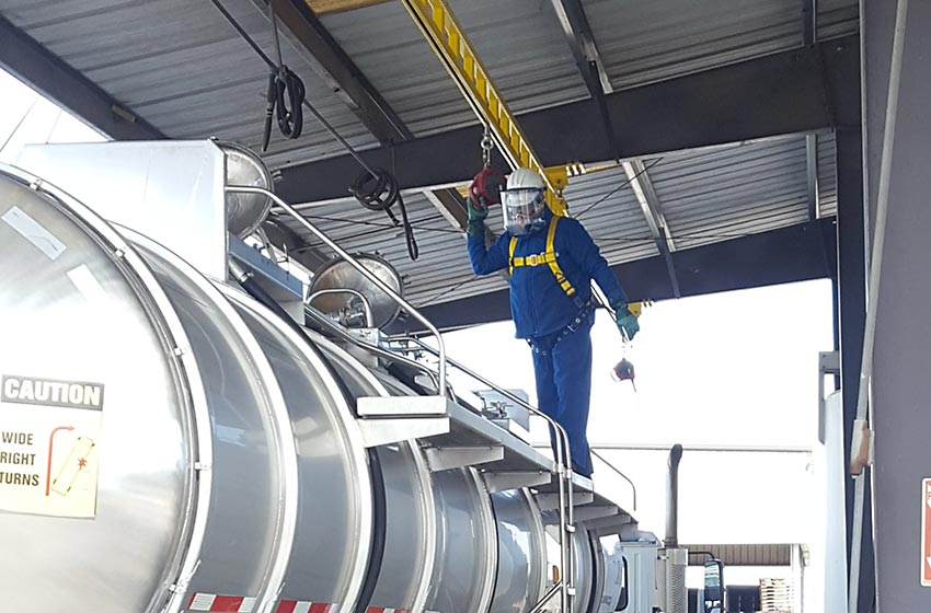 Railcar And Truck Fall Protection Systems Fall Arrest Com