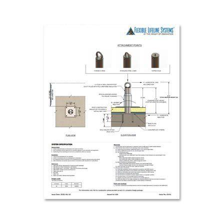 Embedded Tieback Anchor Technical Spec Sheet