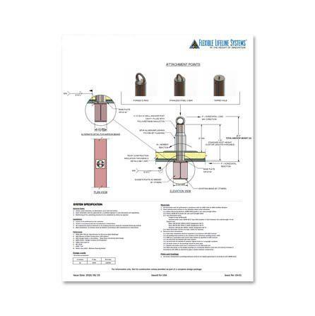 Welded On Tieback Anchor Technical Spec Sheet