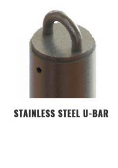 Stainlees Steel U-Bar Tieback Anchor Attachment