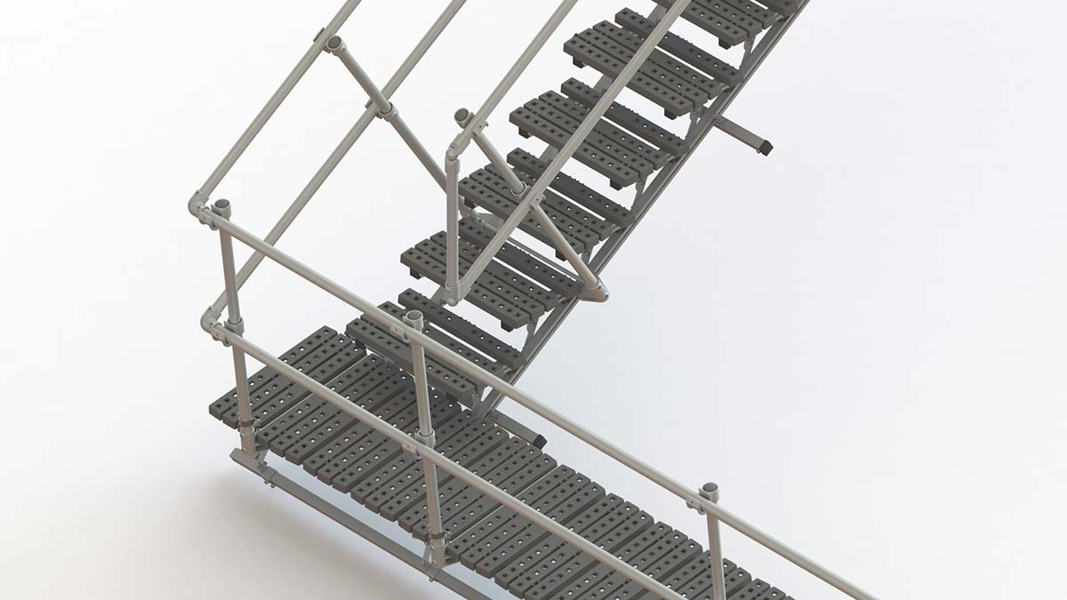 Stairs Systems for Sloped Roofs