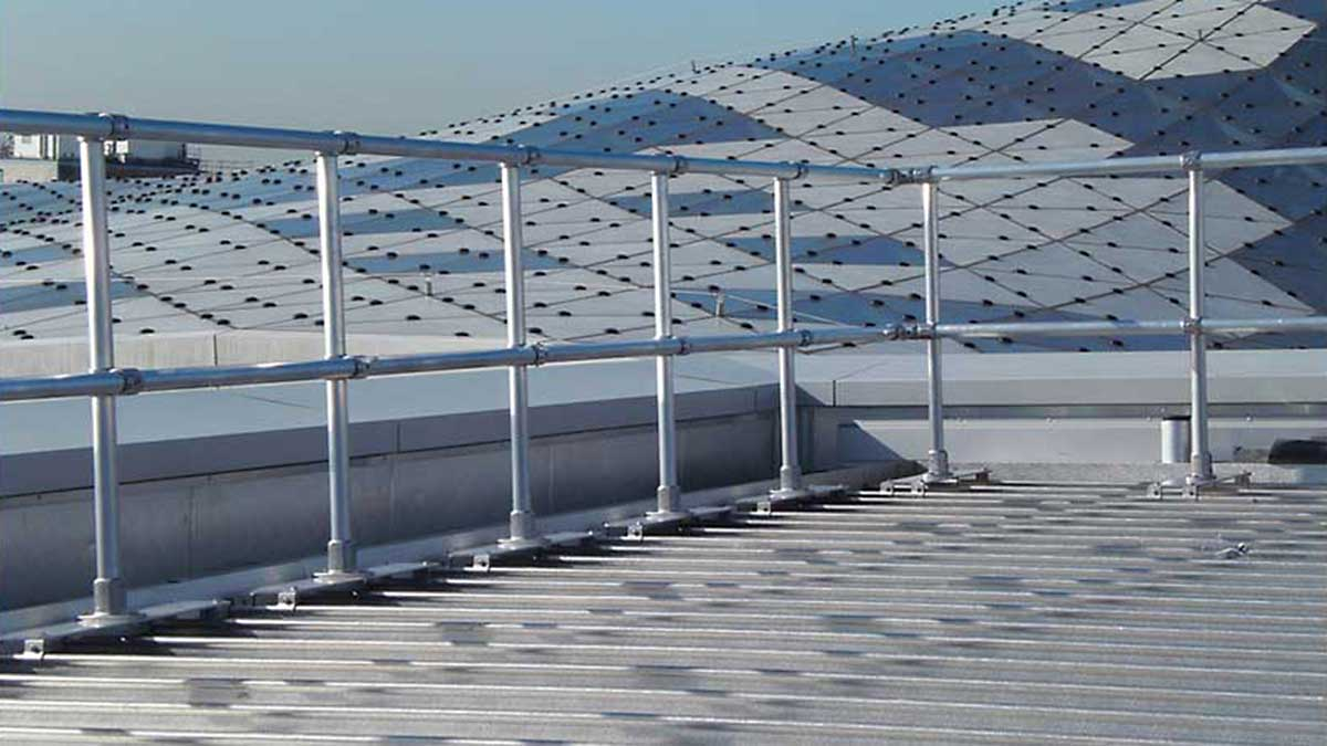 Railing for Standing Seam Rooftops