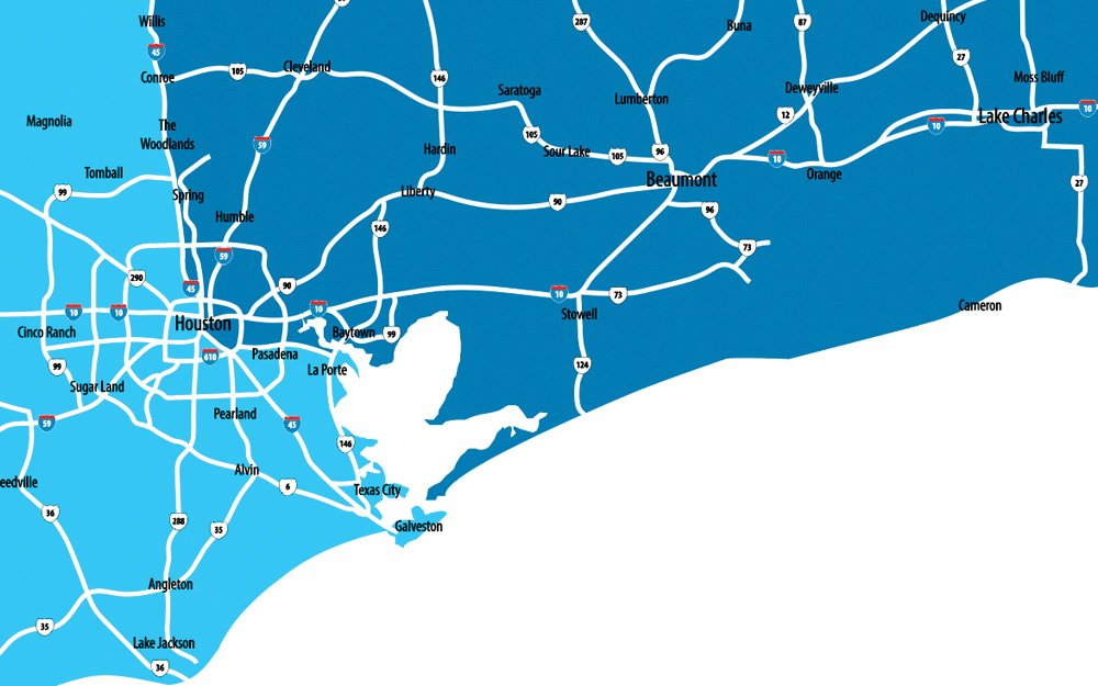 Houston Territory Map