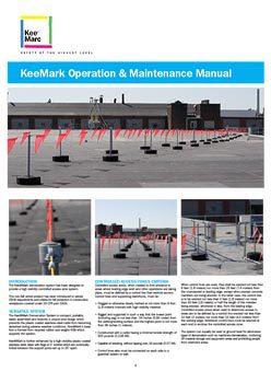 KeeMark Operation & Maintenance Manual