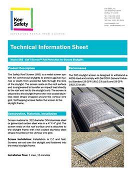 Saf-T-Screen Skylight Info
